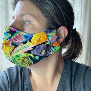 Accessories - Fitted fabric face mask washable elastic ear ties